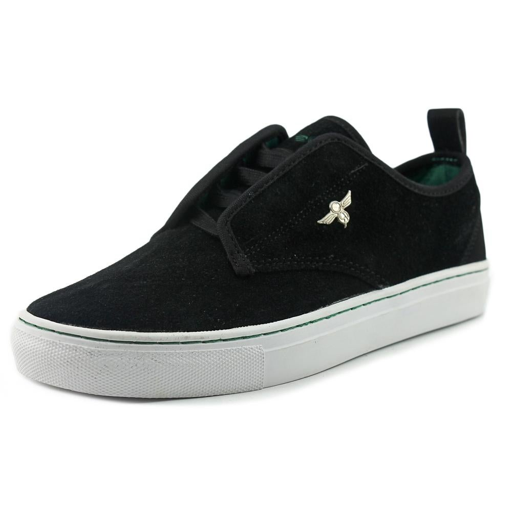 shop creative recreation lacava youth suede black fashion sneakers