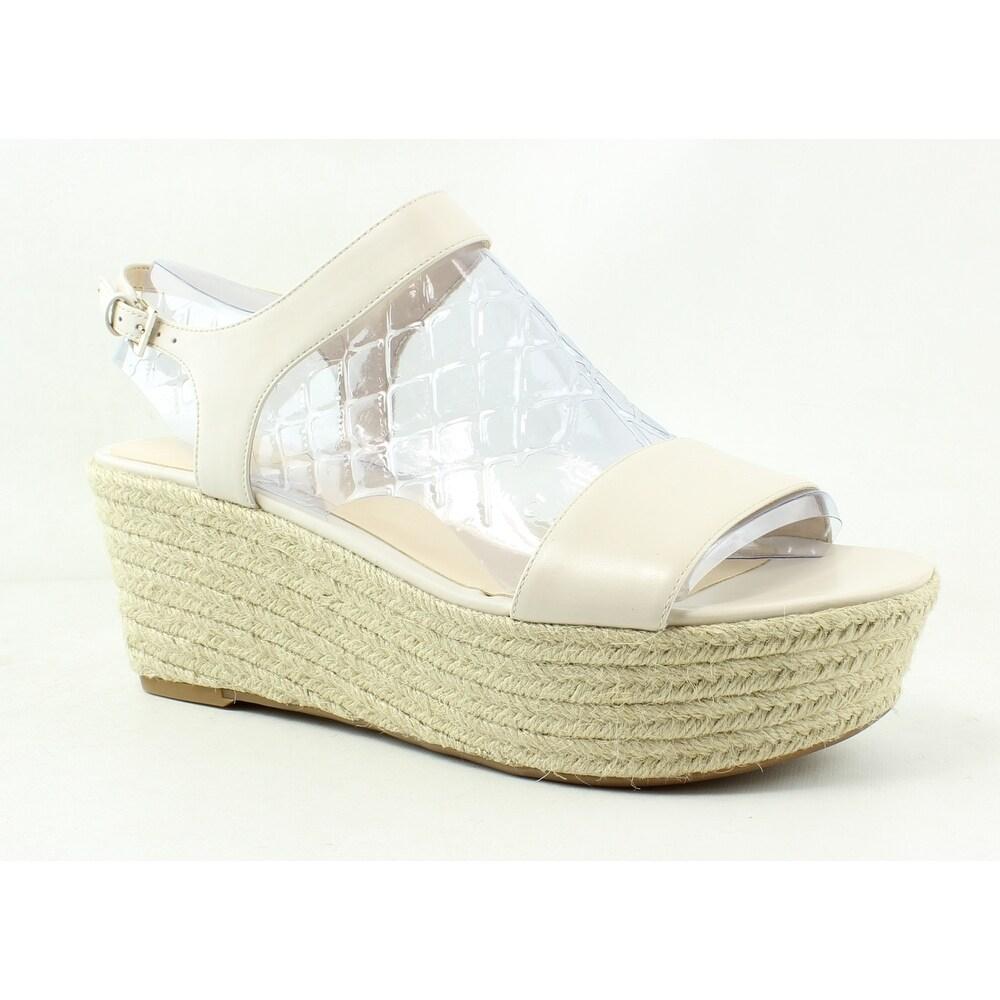 9f4056f3a31 Shop Nine West Womens Flownder Off White Ankle Strap Heels Size 10.5 ...