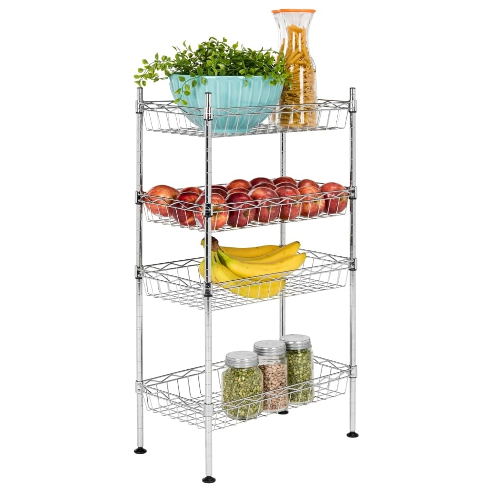 Superbe Shop Happimess HPM5001A Aventura 17 3/4 Inch Wide Storage Rack With Four  Tiers   N/A   Free Shipping Today   Overstock.com   22915737