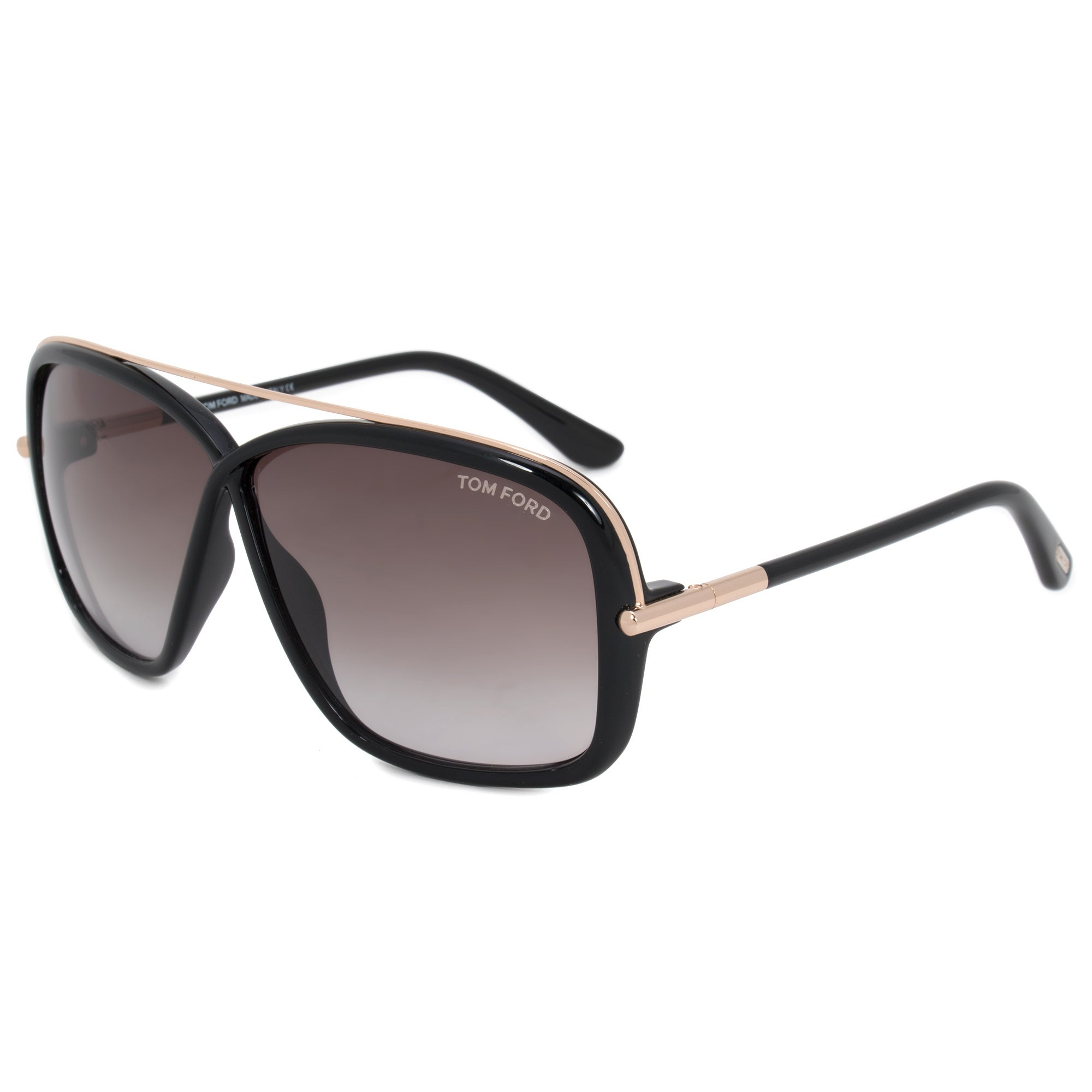 67514a1d36f Shop Tom Ford Brenda Butterfly Sunglasses FT0455 01K 62