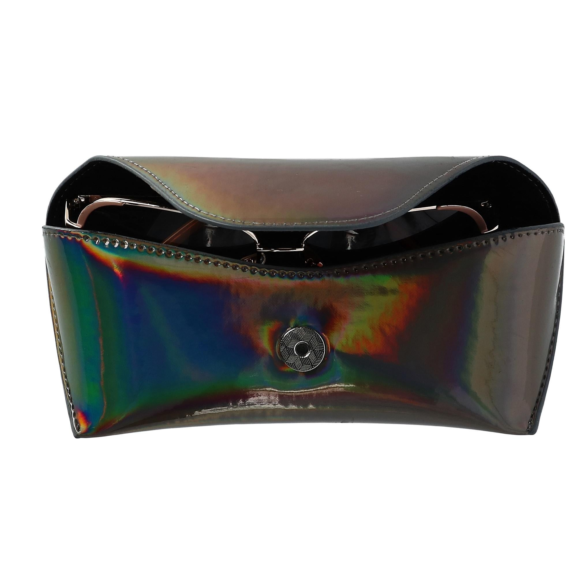 c9d246e09f3 Shop CTM® Women s Iridescent Glasses Case with Magnetic Closure - one size  - Free Shipping On Orders Over  45 - Overstock - 23620297