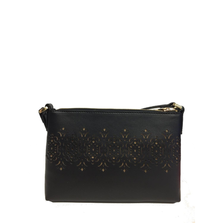 103d962e7417 ... spain lauren ralph lauren tasmine medium cutout crossbody bag black one  size 809d6 72f1b