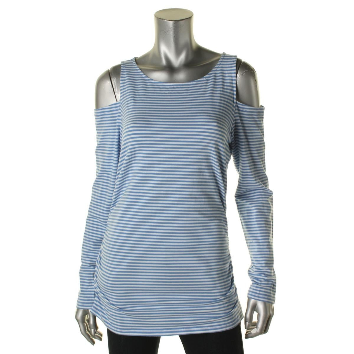 33851a7dd19c9 Shop MICHAEL Michael Kors Womens Pullover Top Striped Open Shoulder - Free  Shipping On Orders Over  45 - Overstock - 14282891