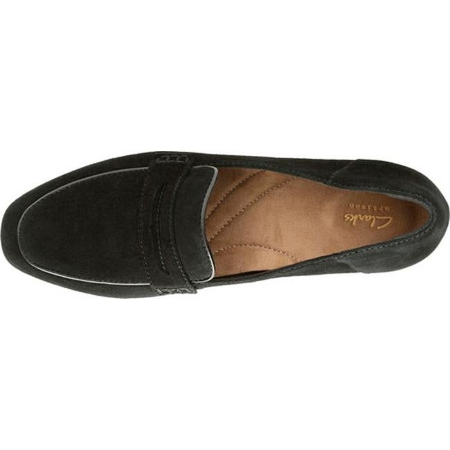9826820d31c Shop Clarks Women s Keesha Cora Penny Loafer Black Suede Polyurethane -  Free Shipping Today - Overstock.com - 22973224