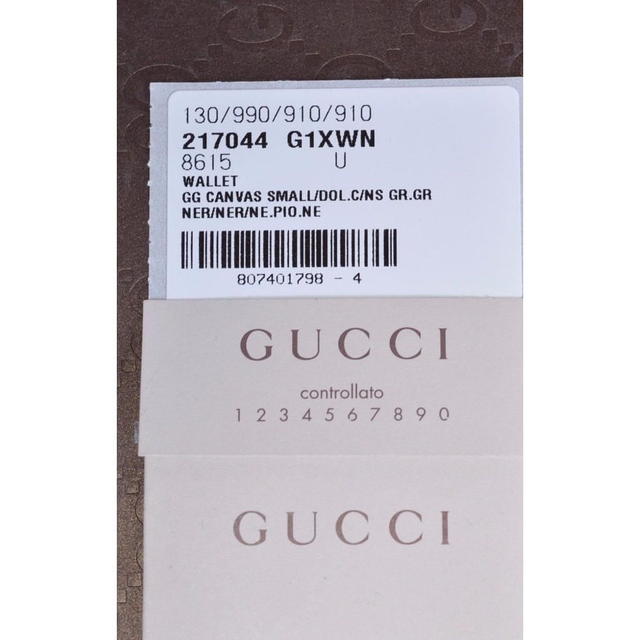 1dec337dbc51a0 Shop Gucci 217044 Men's Black Nylon GG Web Tab Trifold Passcase ID Wallet -  Free Shipping Today - Overstock - 14104650