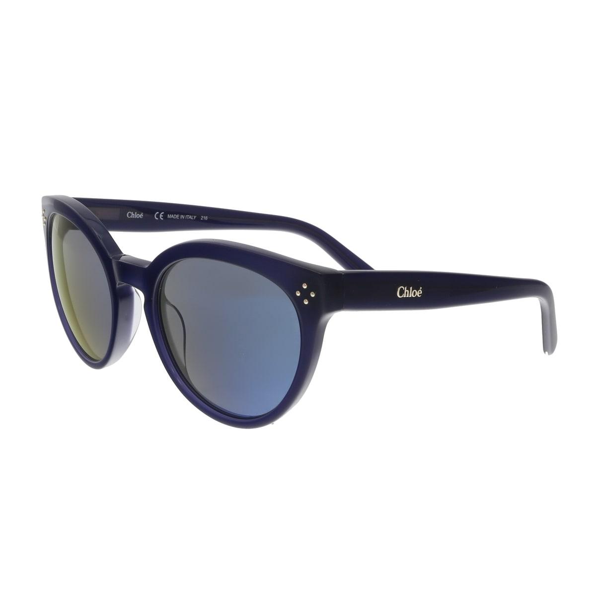 2a10b2342ba9 Shop Chloe CE691S 424 Blue Cat Eye Sunglasses - 54-21-135 - Free ...