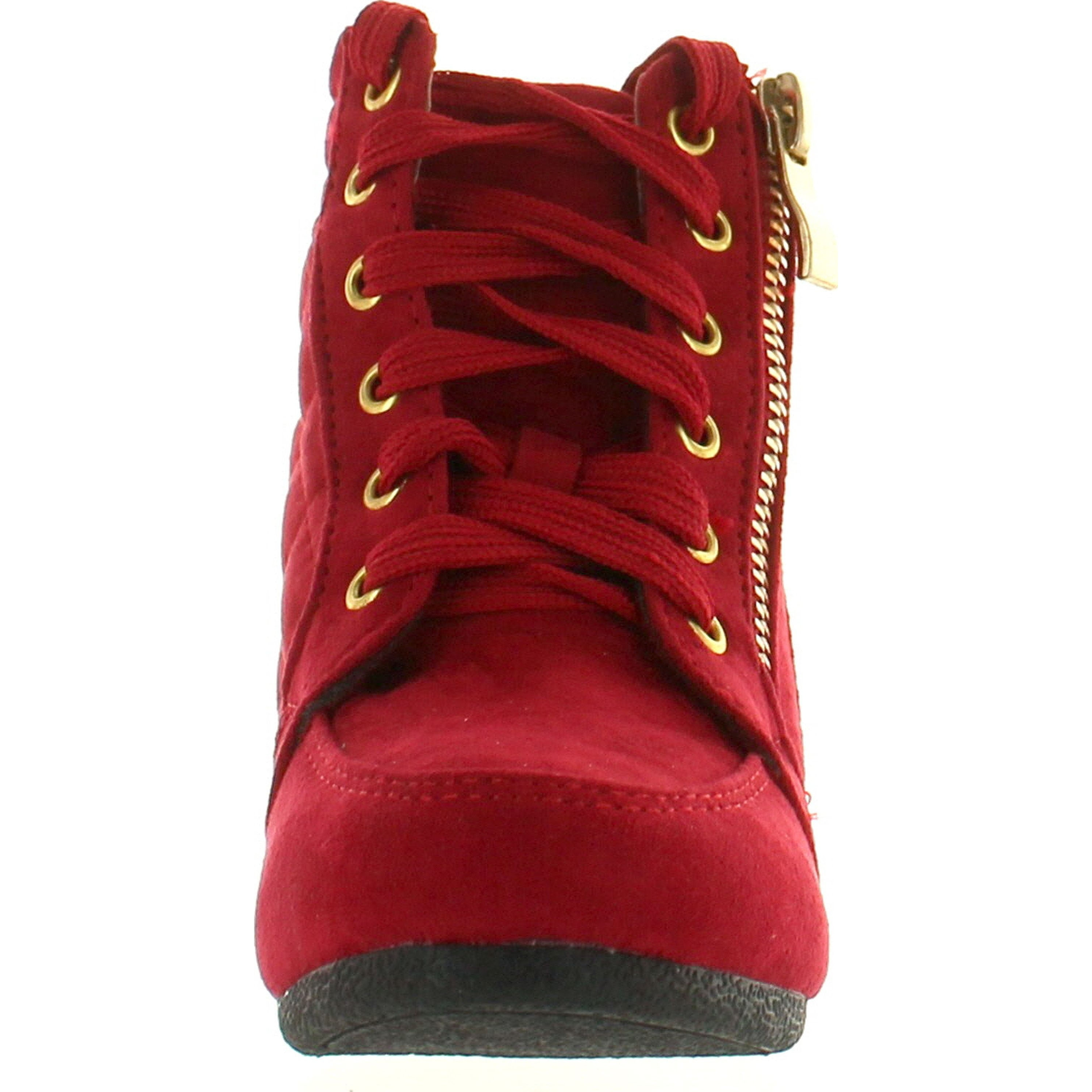e574711eff5 Shop Link Peggy-63K Children Girl s Wedge Heel Lace Up Diamond Shape  Quilted Sneakers - Free Shipping On Orders Over  45 - Overstock - 14312224