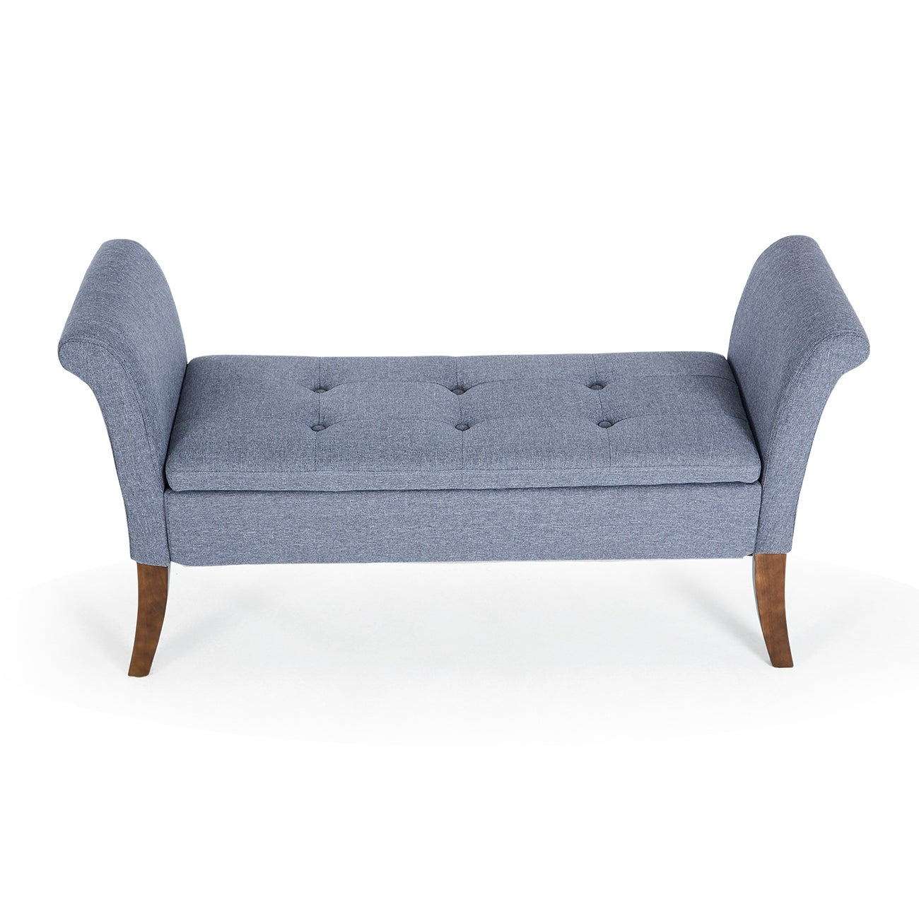 Shop Belleze Button Tufted Storage Settee Bradley Bench Upholstered ...