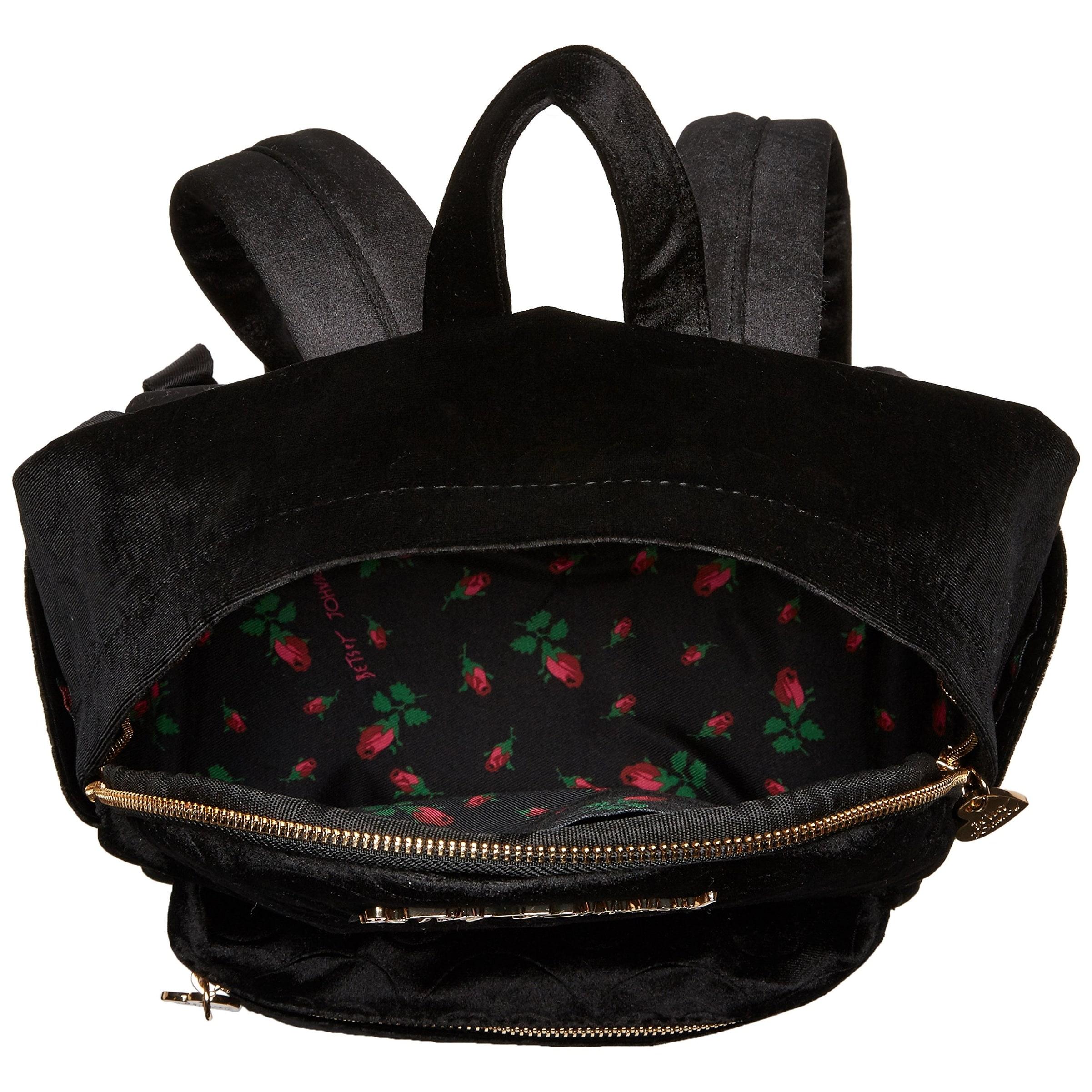 Shop Betsey Johnson NEW Black Small Skull Backpack Style Handbag Purse -  Free Shipping Today - Overstock - 19557068 eb24c29e86899