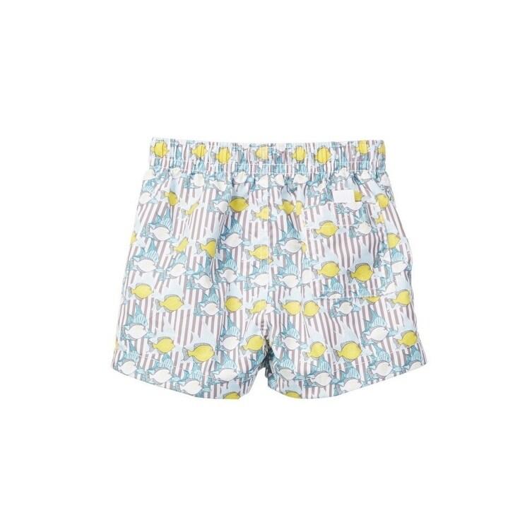 b50f1e8bd891 Shop Azul Baby Boys Khaki Lemon Fish Print Elastic Band Drawstring Swim  Shorts - 12-18 months - Free Shipping On Orders Over $45 - Overstock -  22165266