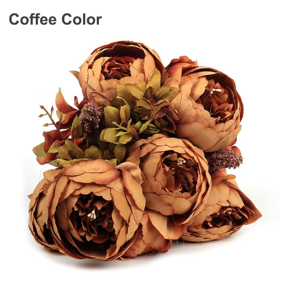 Shop Artificial Peony Silk Flowers Bouquet Home Wedding Decoration