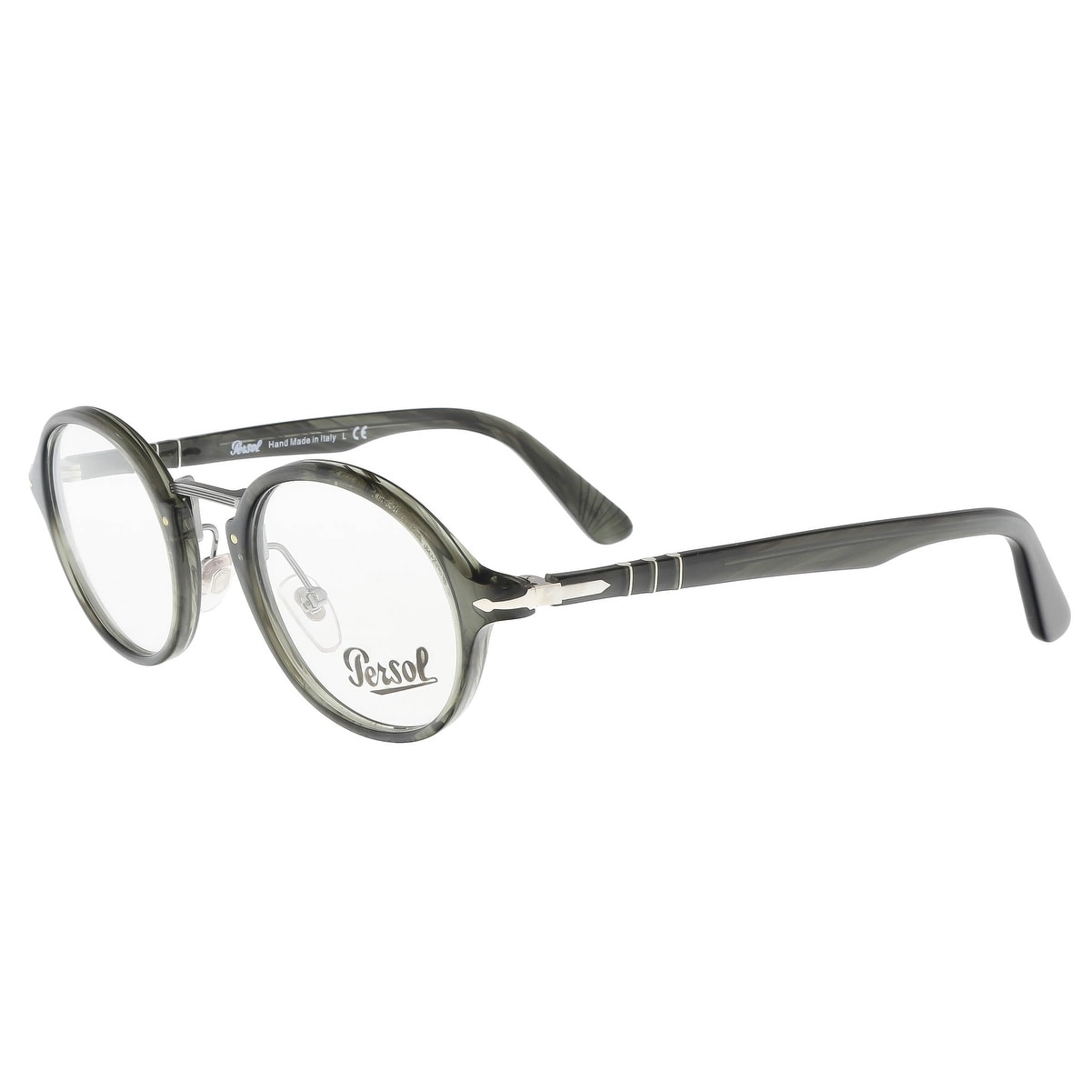 fdf58f82aee7e Shop Persol PO3128V 1020 Grey Round Optical Frames - 46-22-145 - Free  Shipping Today - Overstock - 20773515