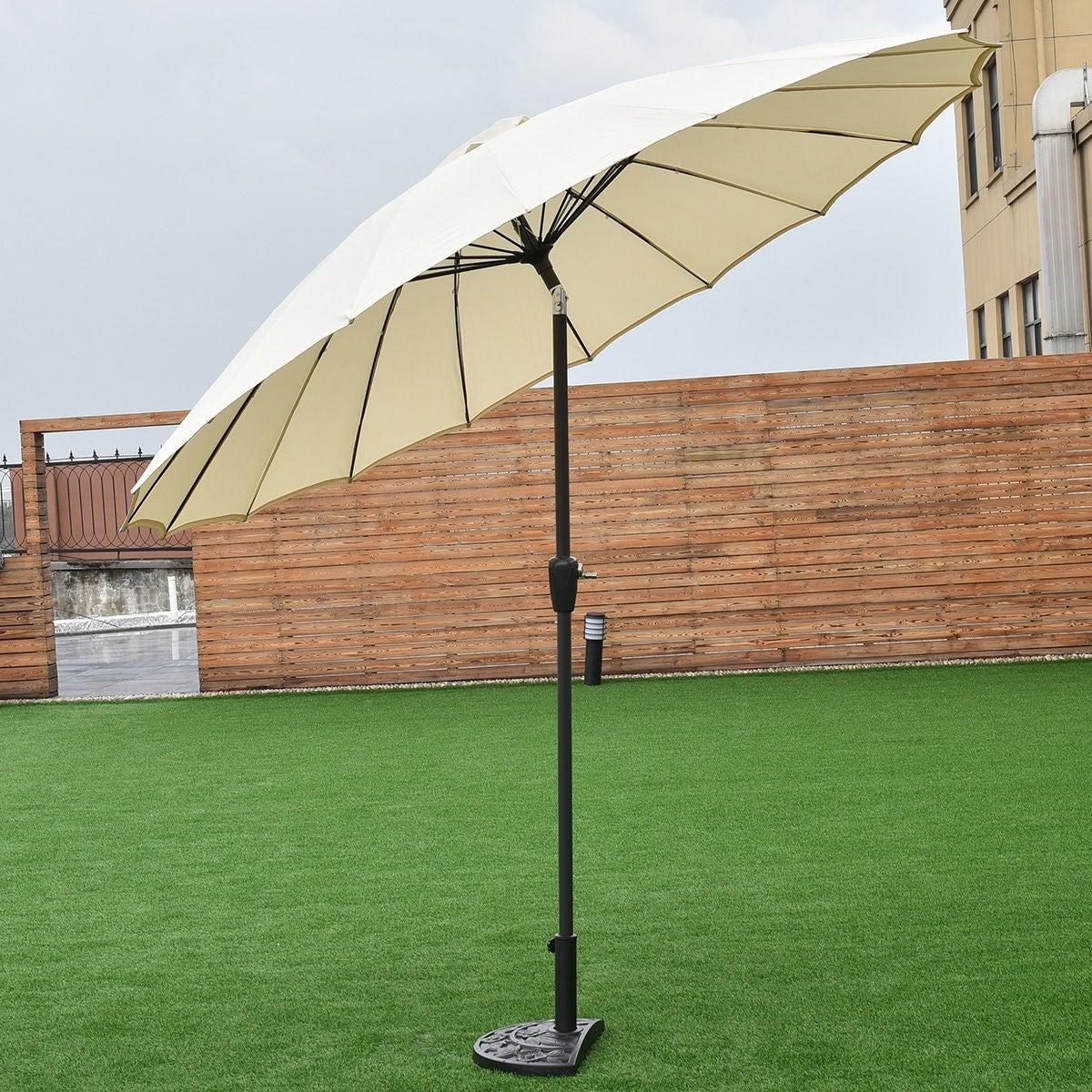 Costway Outdoor 9ft Patio Umbrella Sunshade Cover Market Garden Cafe ...