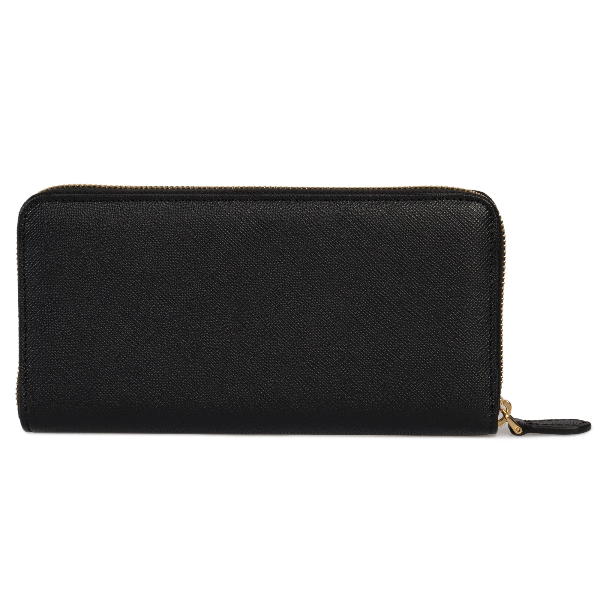 b128abb7322c Shop Prada Black Saffiano Leather Zip-Up Wallet 1ML506 QWA F0002 - Free  Shipping Today - Overstock - 23083764