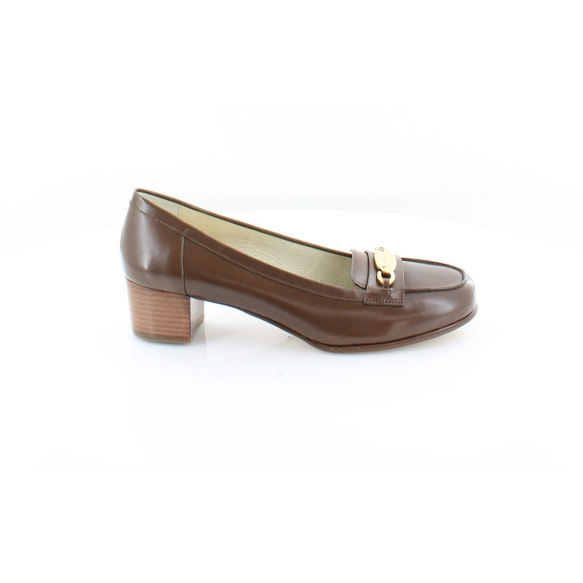 675a4bf608a Shop Michael Kors Lainy Loafers Women s Heels Dk Caramel - 8 - Free  Shipping Today - Overstock - 23549428