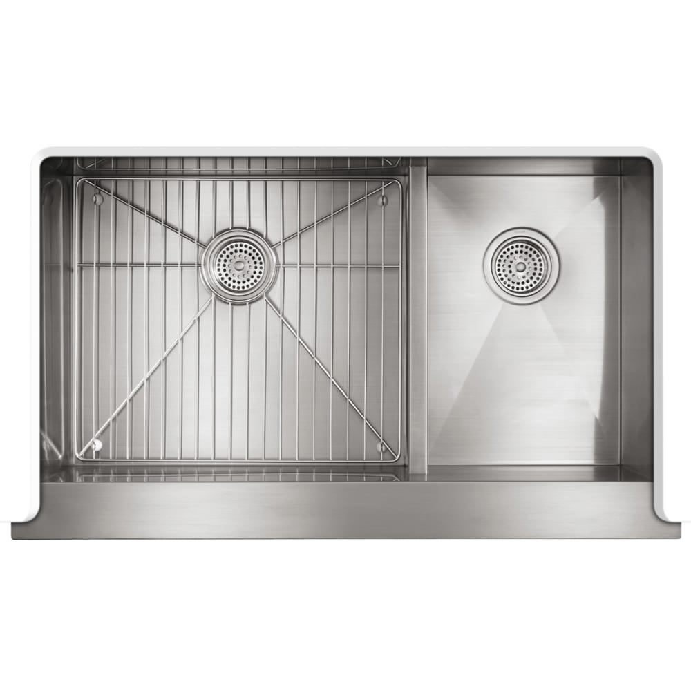 Kohler K 3945 Vault 36 Double Basin Under Mount 18 Gauge Stainless Steel Kitchen Sink With Self T And Smart Divide Free Shipping Today