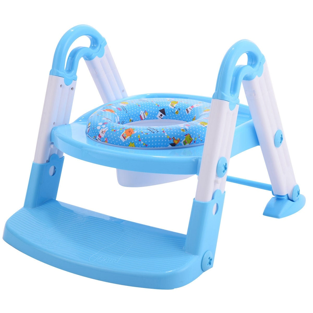 Shop Costway 3 in 1 Baby Potty Training Toilet Chair Seat Step ...