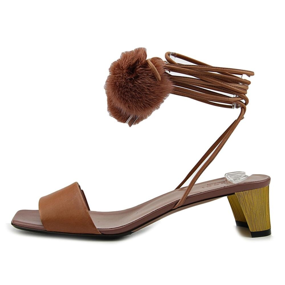 7a55b384776c51 Shop Gucci Betis Glamour Visone Open Toe Leather Sandals - Free Shipping  Today - Overstock - 16787897