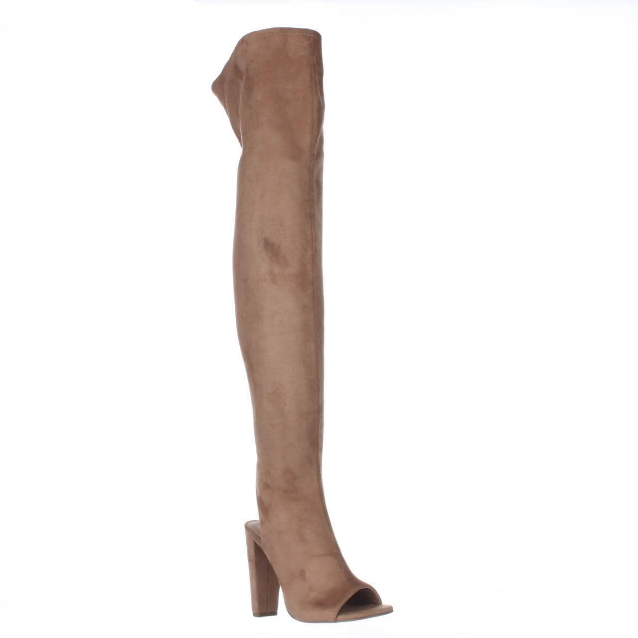 9e7bebd1b Shop Steve Madden Kimmi Over-The-Knee Open Heel Boots, Camel - Free  Shipping Today - Overstock - 19583499