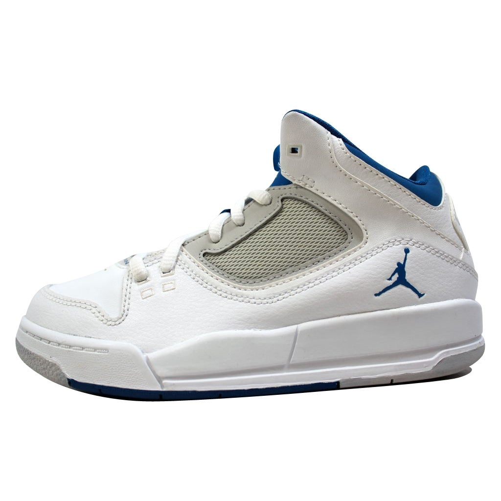 6a1cb4d60aa58a Shop Nike Pre-School Air Jordan Flight 23 RST White Military Blue-Neutral  Grey 512236-105 Size 1Y - Free Shipping On Orders Over  45 - Overstock -  20129999