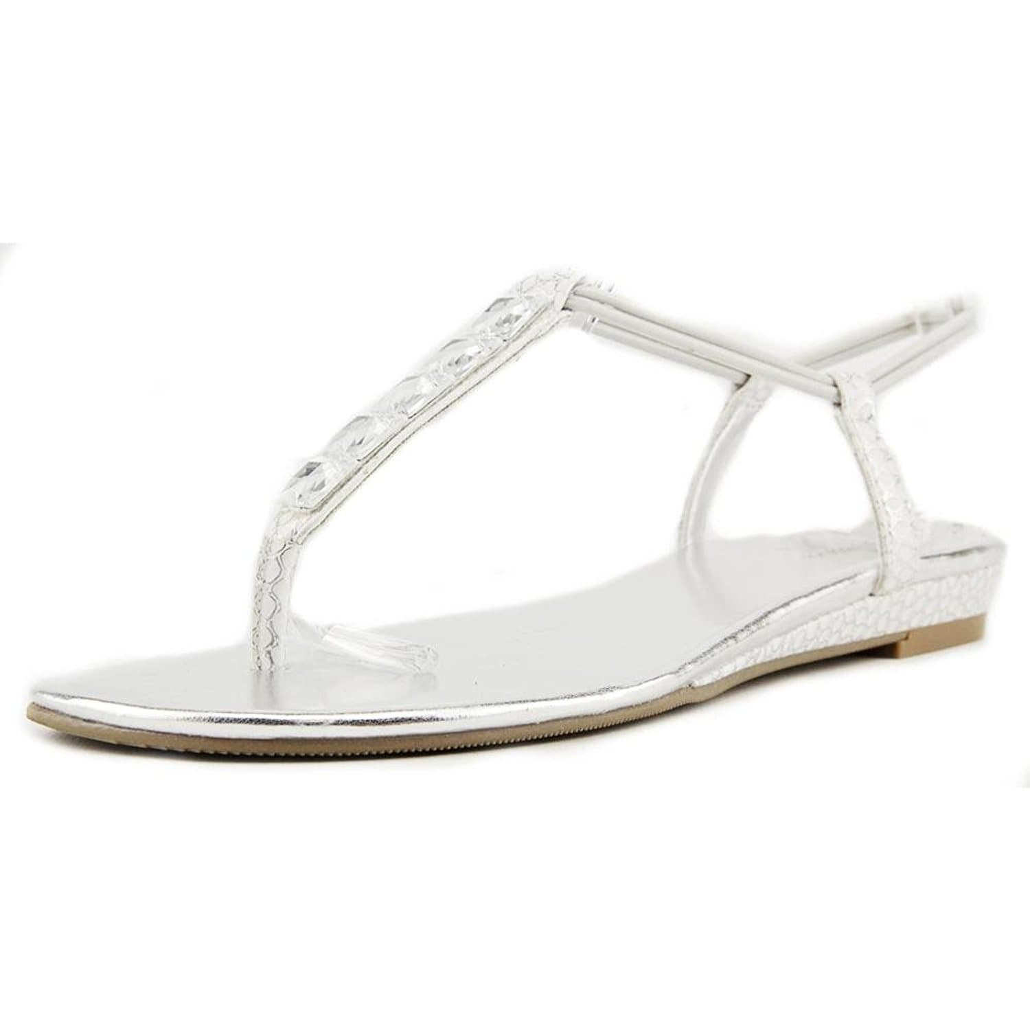 Style Co Womens ELIAHH Open Toe Casual Slide Sandals Pewter Size 95