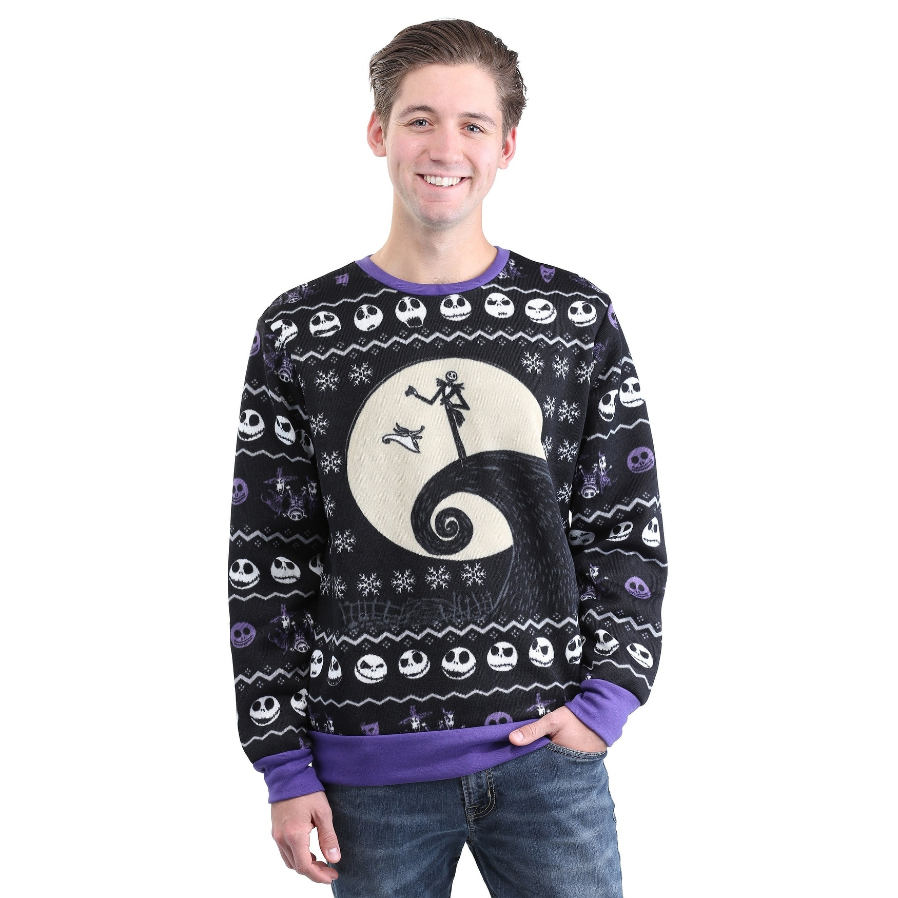 Shop Classic Nightmare Before Christmas Adult Ugly X-Mas Sweater ...