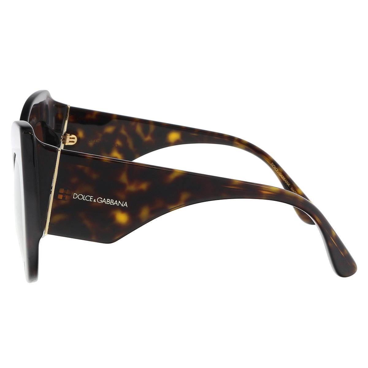 f585a861d5bb Shop Dolce   Gabbana DG4321 502 13 Havana Cat Eye Sunglasses - 55-20 ...