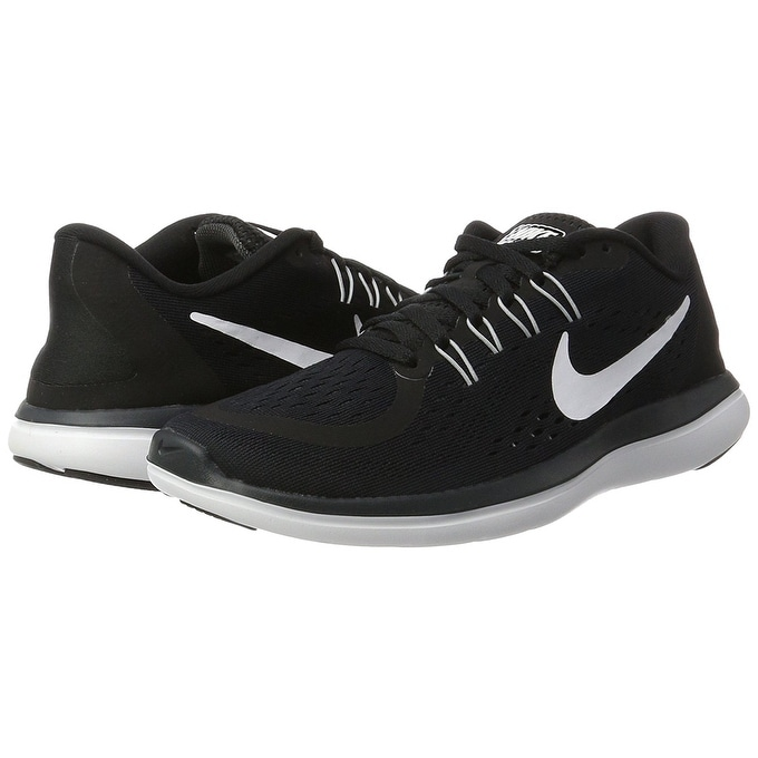 88a320b88f93 Shop Nike Womens Flex 2017 RN Running Shoe Black White Anthracite Wolf Grey  - Free Shipping Today - Overstock - 17949993