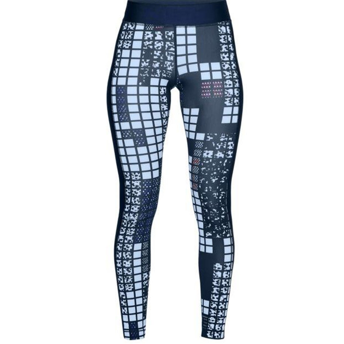 66d72ee709d4e Shop Under Armour Women's HeatGear Armour Printed Legging, Academy/Metallic  Silver, M - Free Shipping On Orders Over $45 - Overstock - 22302055