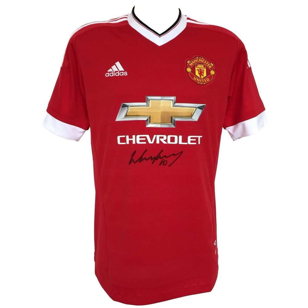 4c4b83d37ee Shop Wayne Rooney Signed 2015 16 Manchester United Soccer Jersey BAS ...