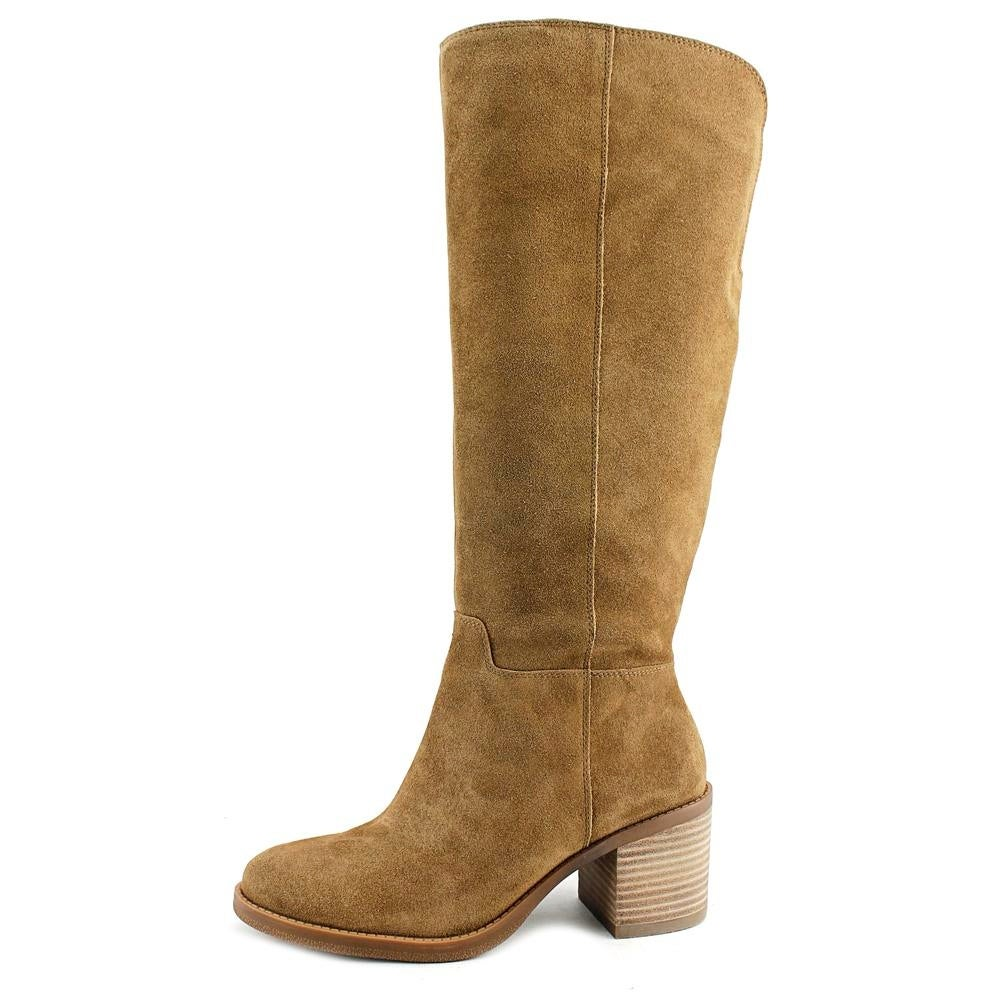 0915378a493 Shop Lucky Brand Ritten Wide Calf Women Round Toe Leather Brown Knee High  Boot - Free Shipping Today - Overstock - 18265139
