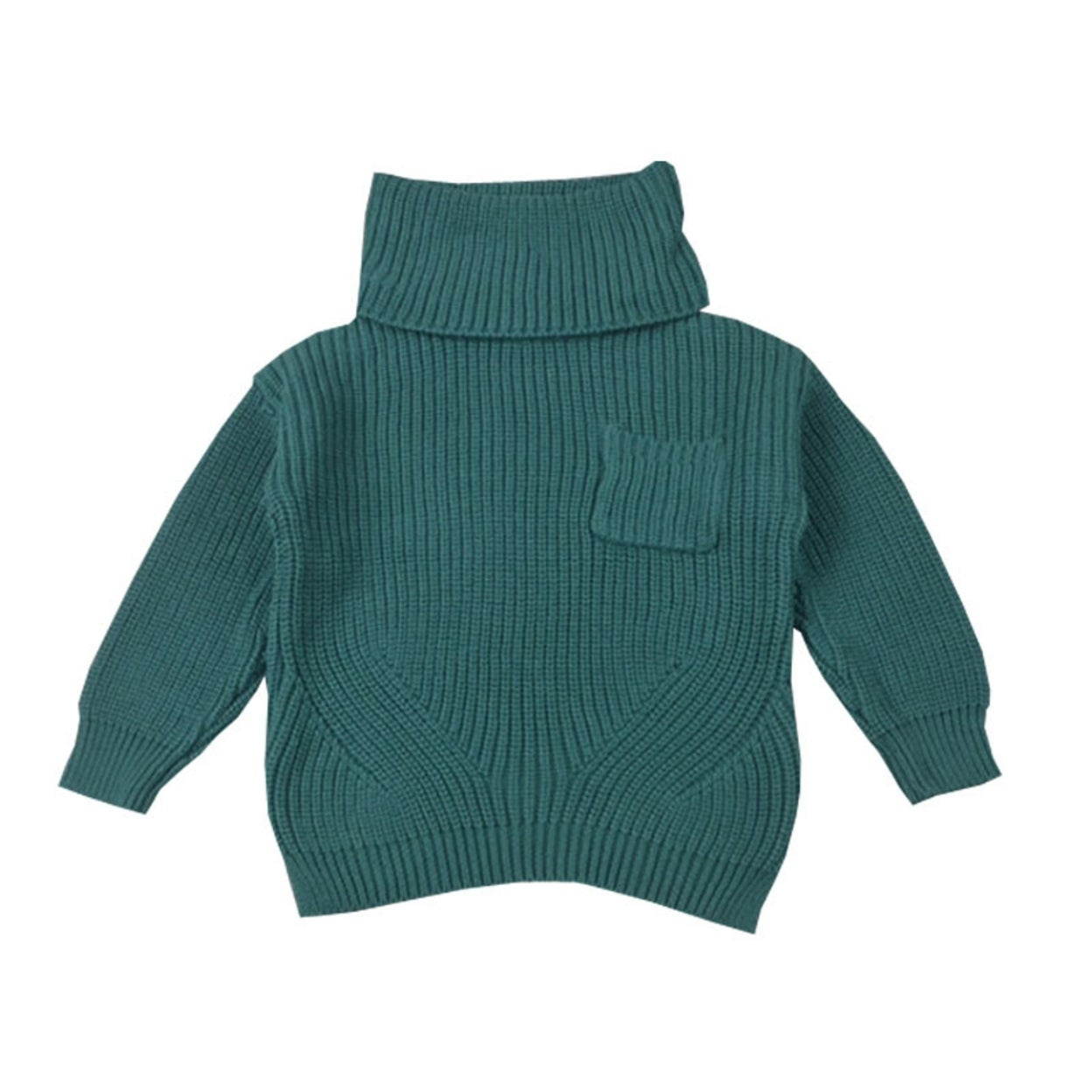 660cd721ae75 Shop Baby Girl Boy Clothes High Neck Warm Sweater Children Toddler ...