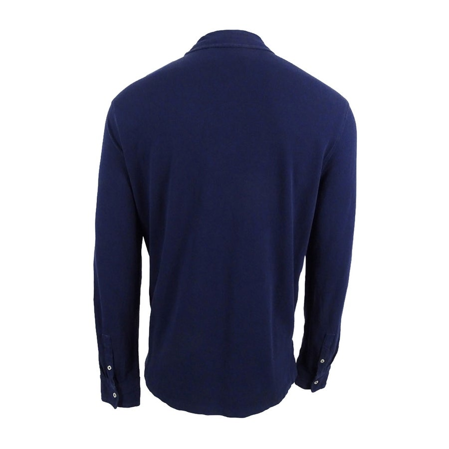 727919e0 Shop Polo Ralph Lauren Men's Long-Sleeve Featherweight Cotton Mesh Polo -  Free Shipping On Orders Over $45 - Overstock - 18970956