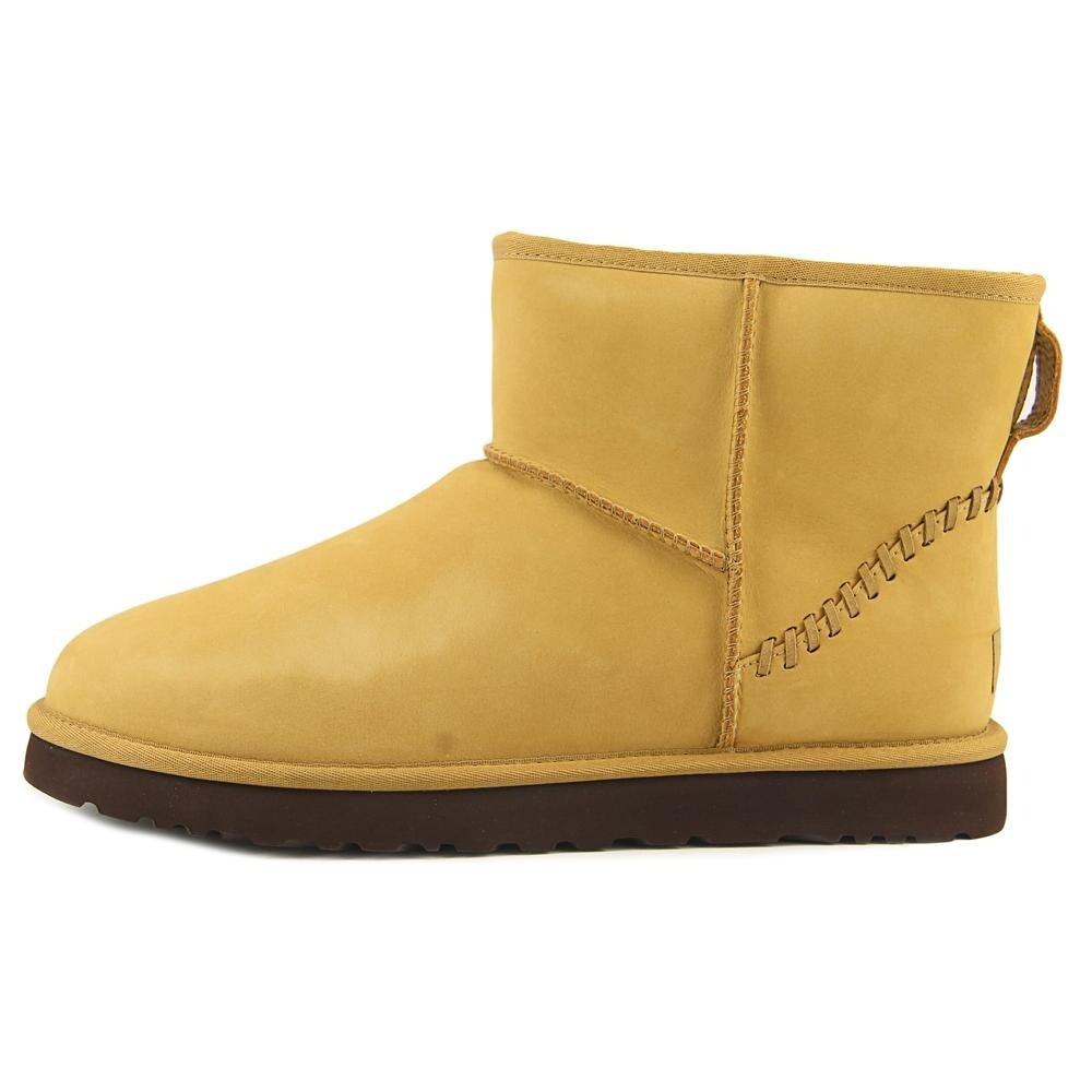 bbd2fbf960f Ugg Australia M Classic Mini Deco Men Round Toe Leather Tan Ankle Boot