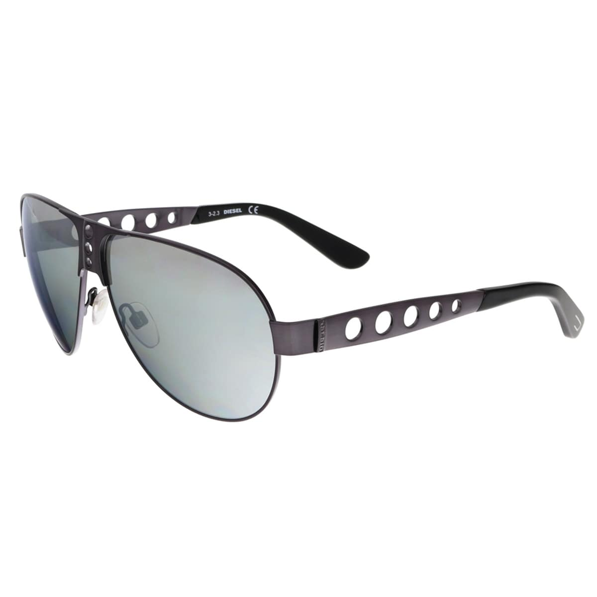 0270f24884 Shop Diesel DL0092 09C Gunmetal Aviator Sunglasses - 63-10-140 - Free  Shipping Today - Overstock - 13831698