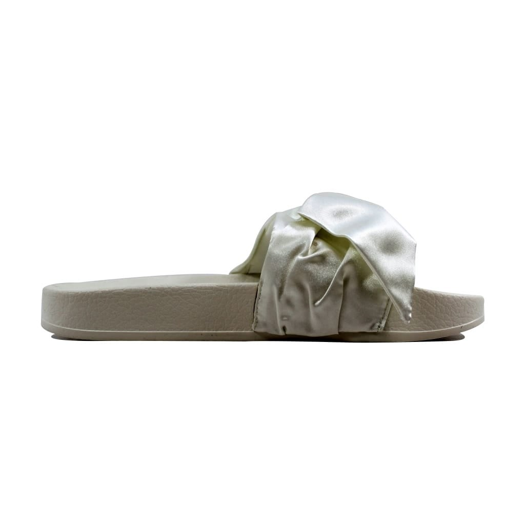 ba4c16b49bd5 Shop Puma Bow Slide Marshmallow Puma Silver Rihanna Fenty 365774 02 Women s  - On Sale - Free Shipping Today - Overstock - 21893591
