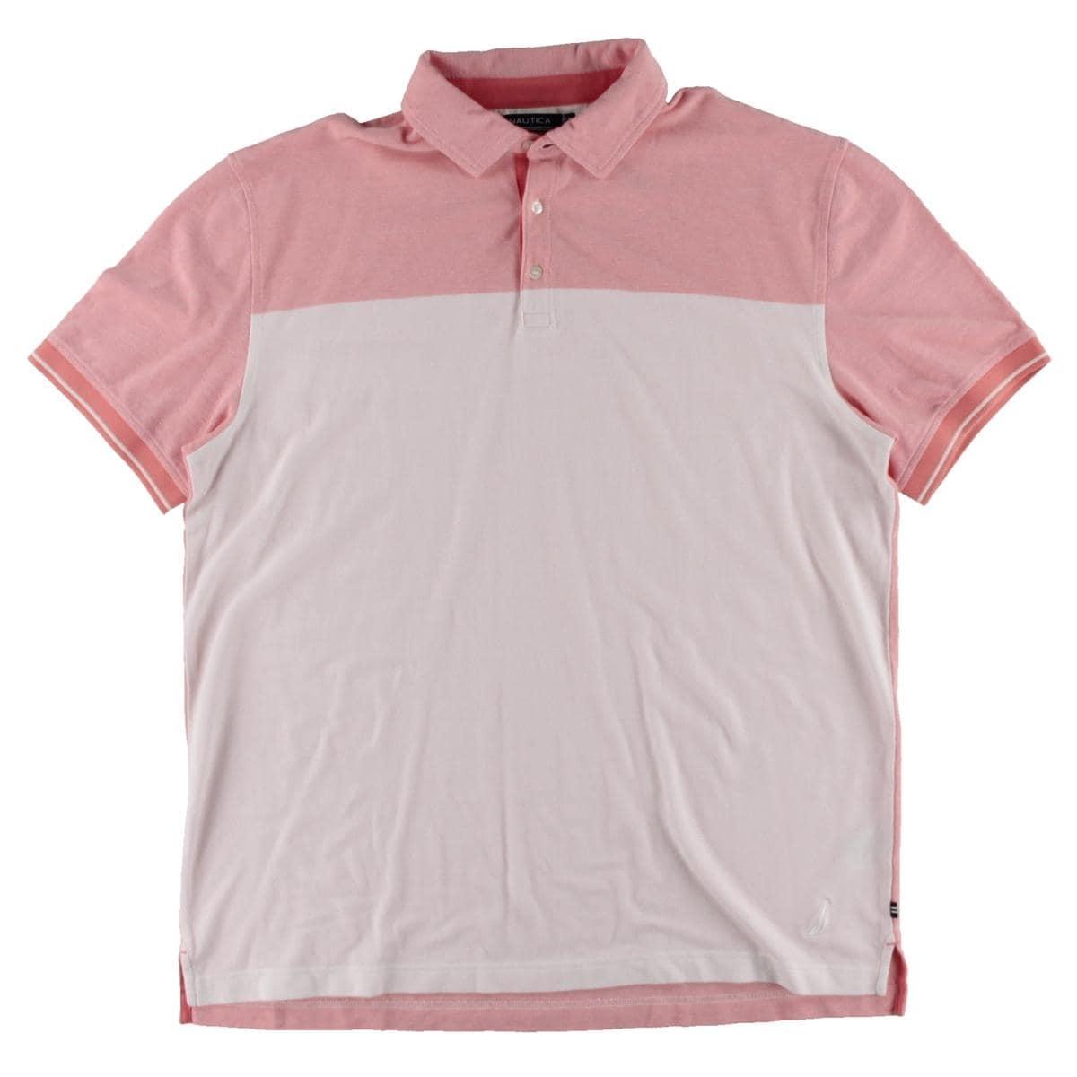Shop Nautica Mens Polo Shirt Oxford Colorblock Free Shipping Today