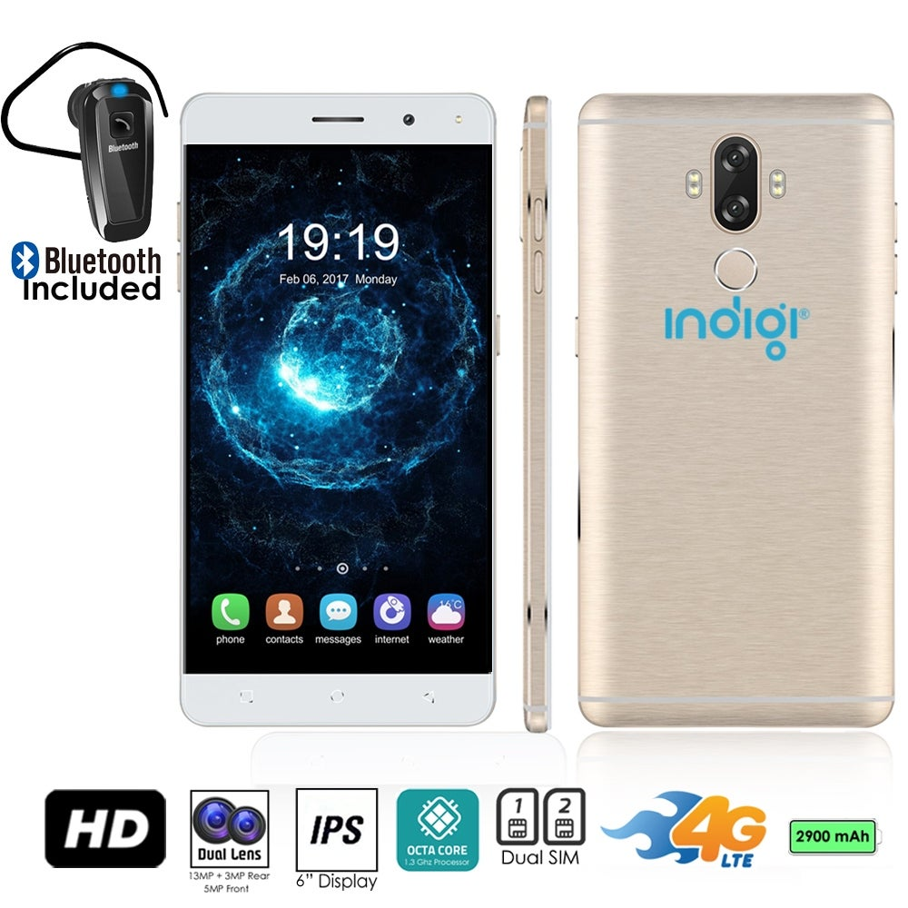 Shop Indigi Gsm Unlocked 4g Lte 6 Inch Smartphone Android 70 Samsung Galaxy S7 Edge 128gb Absolute Black Octacore 13ghz Fingerprint Scanner Bluetooth Headset Free Shipping Today