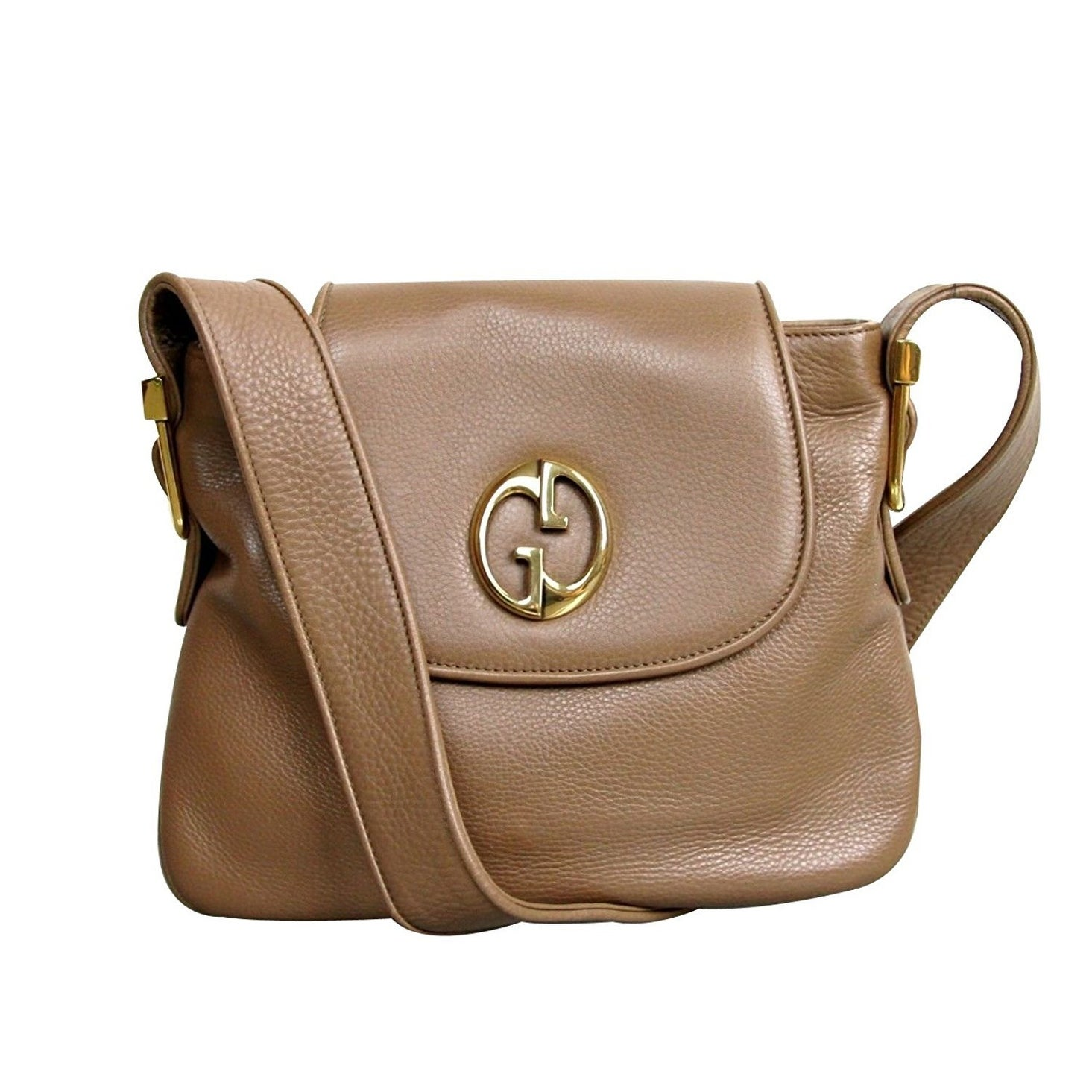 67bb79c6dca87a Shop Gucci Womens 1973 Brown Leather Shoulder Bag Handbag 251809 - One size  - Free Shipping Today - Overstock - 27603143