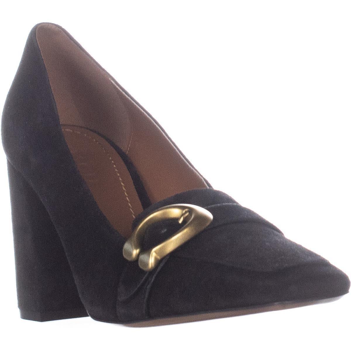 f130d7bd468 Shop Coach Jade Square Toe Block Heel Pumps