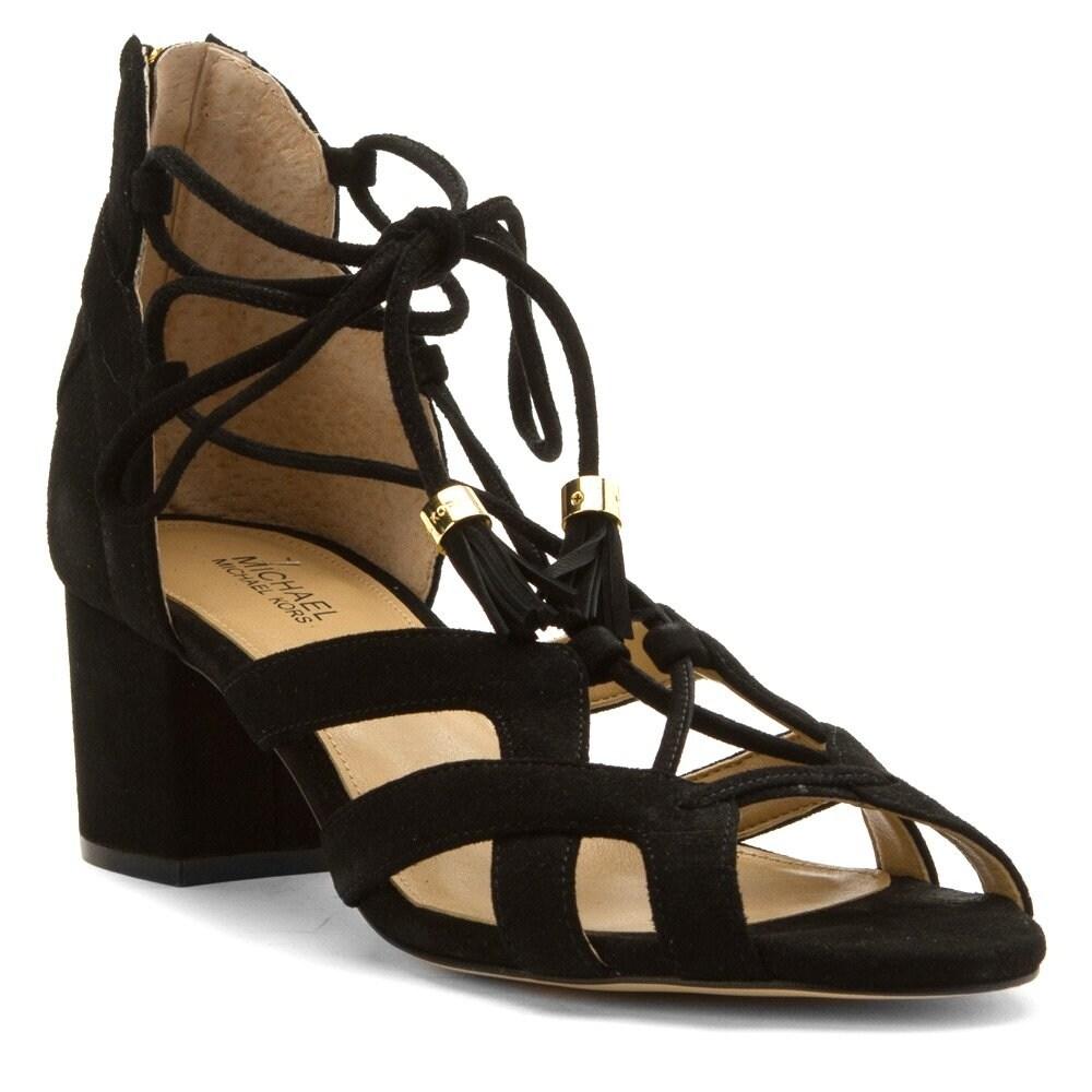 941de7fc88d3 MICHAEL Michael Kors Womens mirabel mid Fabric Open Toe Casual Strappy  Sandals