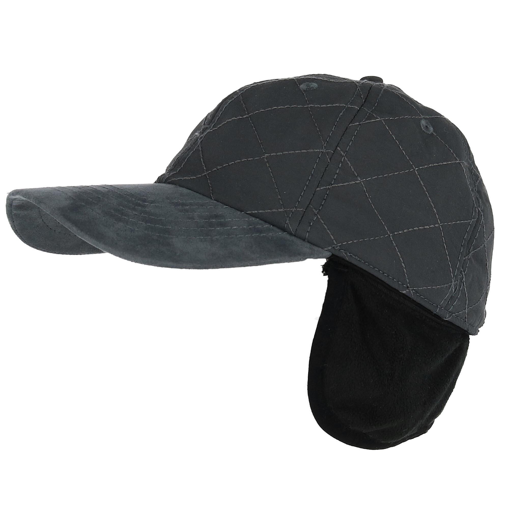 Shop Elysiumland Men s Quilted Baseball Cap with Ear Flaps - Free ... 6bdfd560921