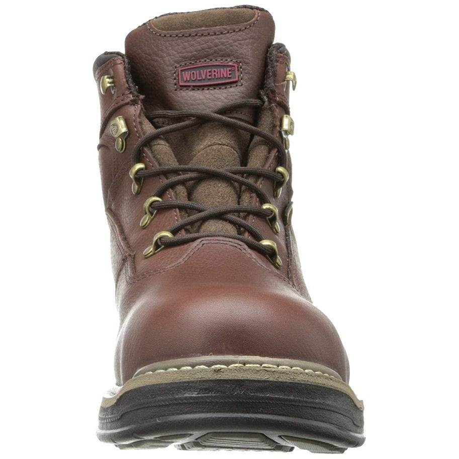 921d013dad9 Wolverine Mens Buccaneer Leather Steel toe Lace Up Safety Shoes
