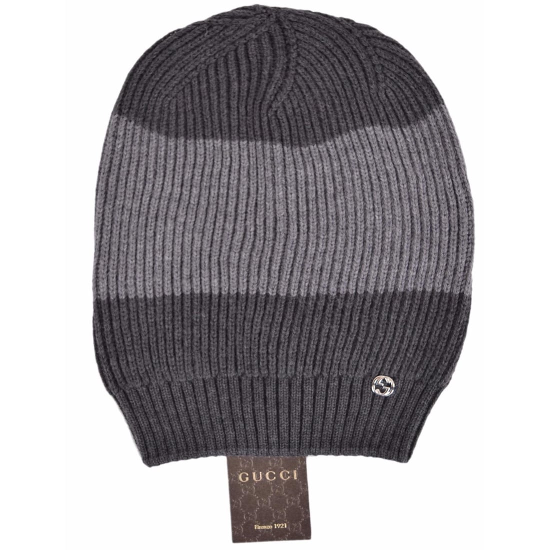 Shop Gucci Men s 310777 Grey Wool Colorblock Interlocking GG Slouchy Beanie  Hat - Free Shipping Today - Overstock - 11982612 58b602809e9