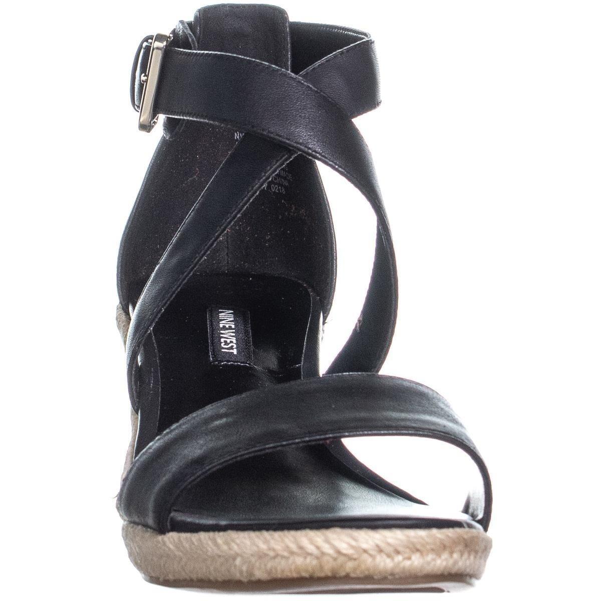 fd09666015f Nine West JorgaPeach Espadrilles Sandals, Black