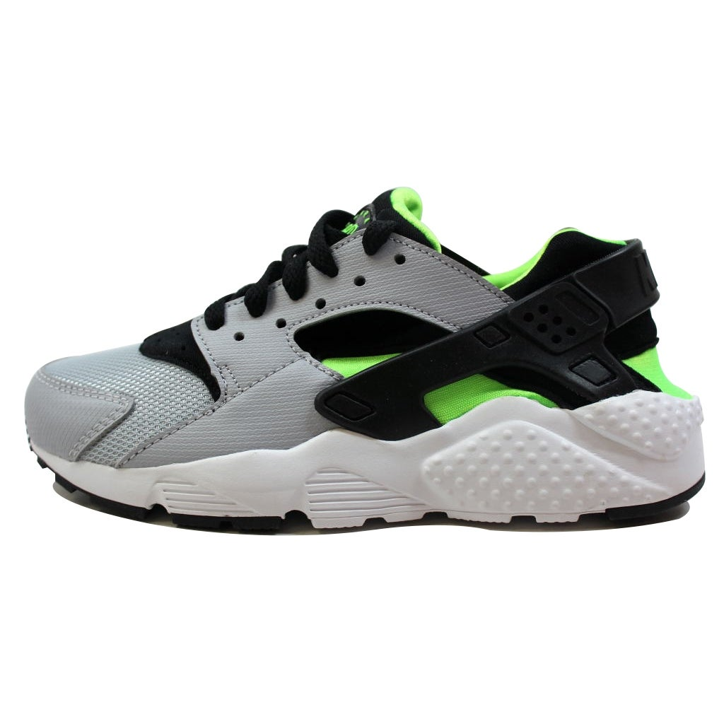4781832060 Shop Nike Grade-School Huarache Run Wolf Grey/Black-Electric Green-White  654275-015 Size 6.5Y - Free Shipping Today - Overstock - 20129338