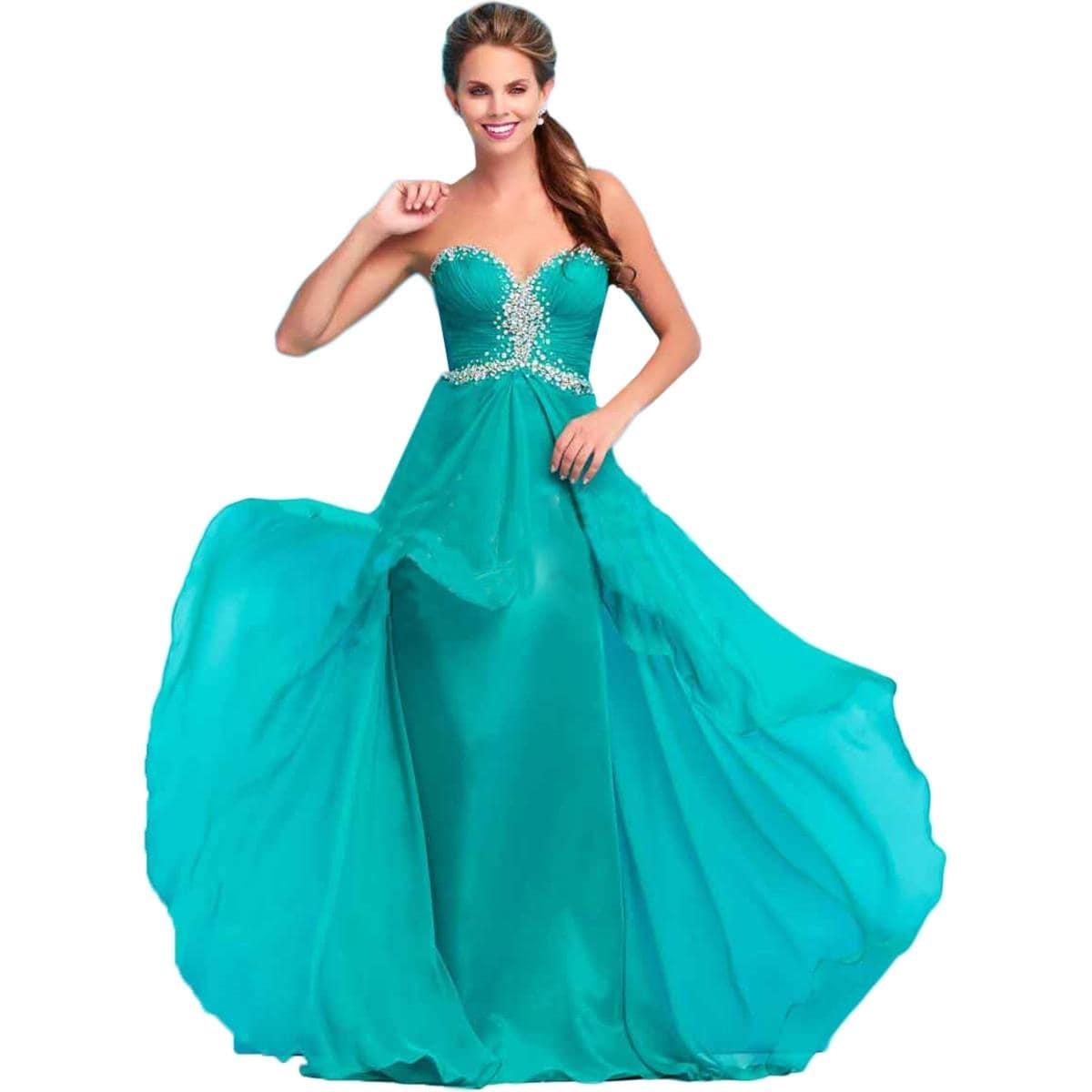 Mac Duggal Womens Formal Dress Chiffon Embellished - Free Shipping ...