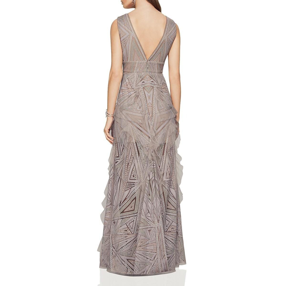 641a25623c11 Shop BCBG Max Azria Womens Aislinn Evening Dress Ruffled Lace - Free  Shipping Today - Overstock - 21145676