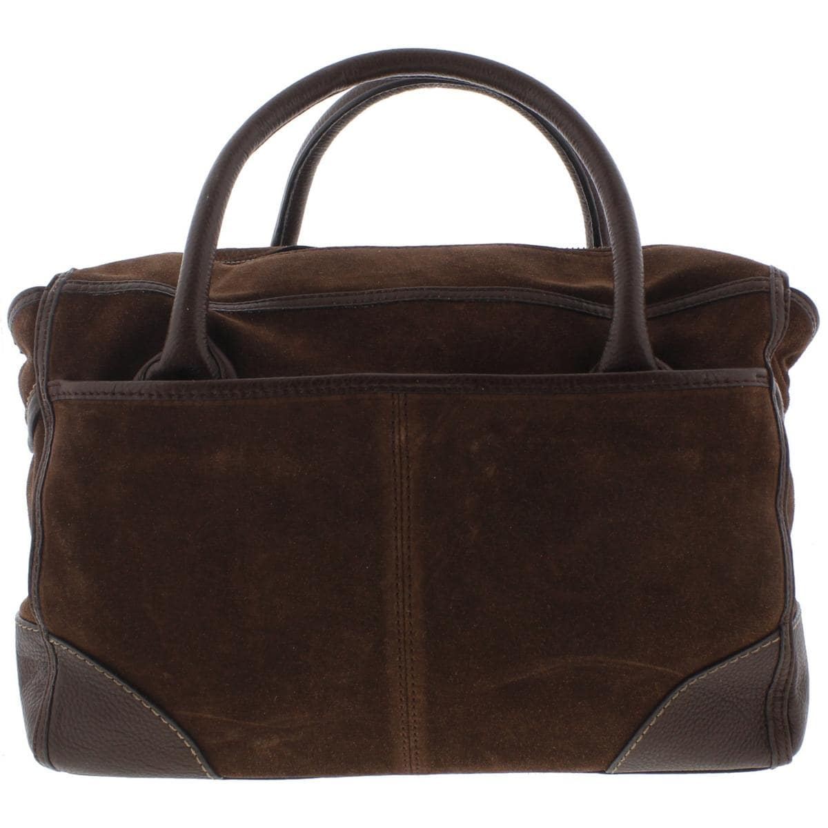 Nanette Lepore Womens Waverly Satchel Handbag Genuine Suede Leather Trim Large Free Shipping Today 19550737