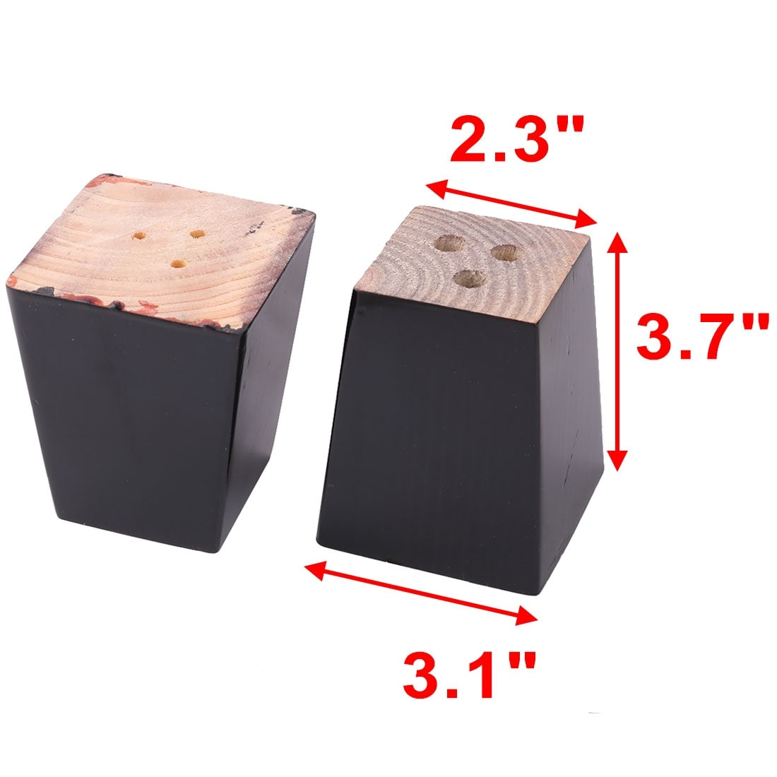 Shop Home Wooden Furniture Cabinet Chair Couch Sofa Legs Feet Replacement  Black 4pcs   Free Shipping Today   Overstock.com   18679718